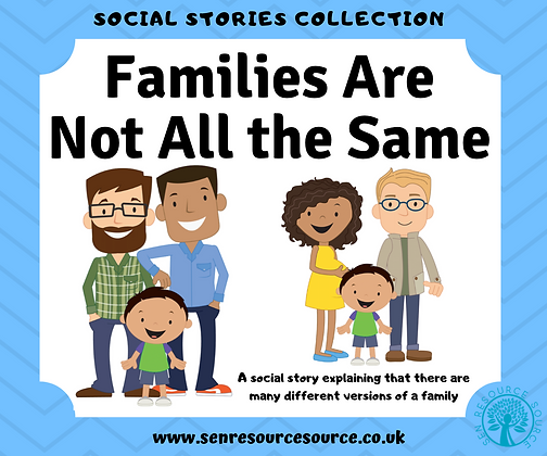 Families Do Not All Look the Same Social Story
