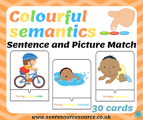 Colourful Semantics Sentence and Picture Jigsaw Match
