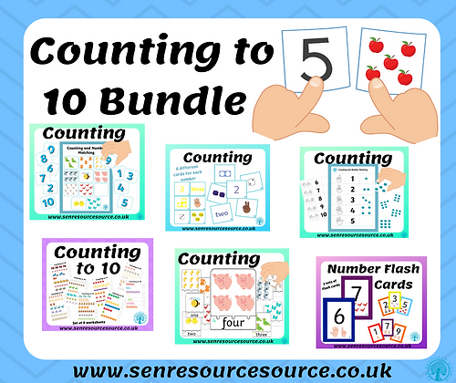 Big Counting to 10 Activities Bundle