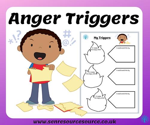 Anger Triggers Worksheet
