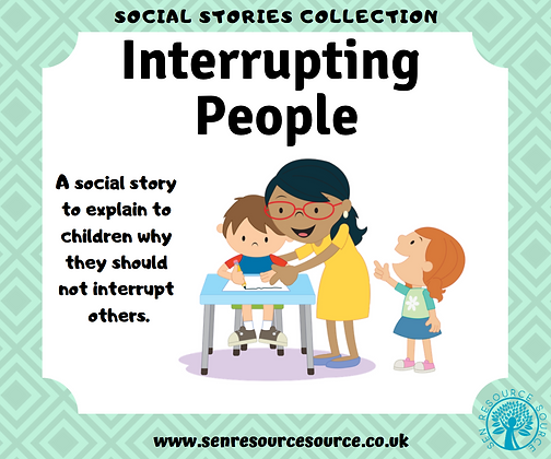Interrupting People Social Story