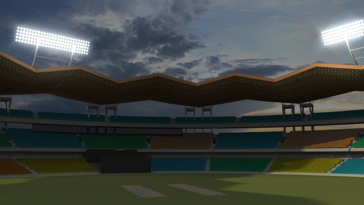 Maya render of Cochin stadium.
