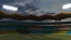 Maya render of Cochin stadium.
