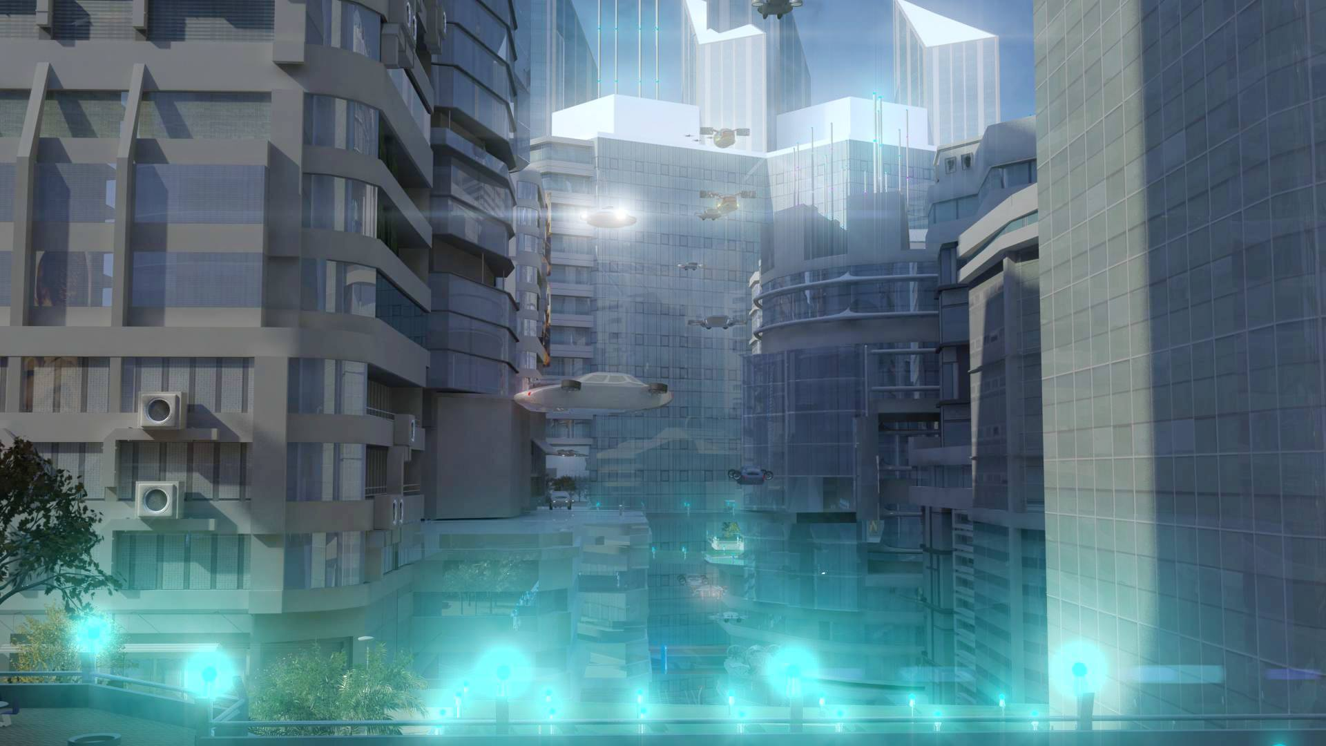 Water City render