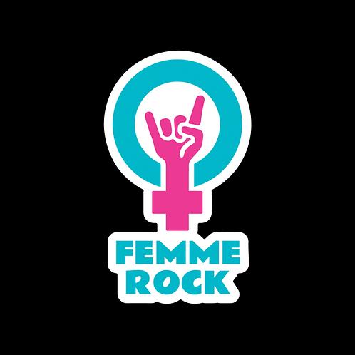 Femme Rock Logo Sticker - Color