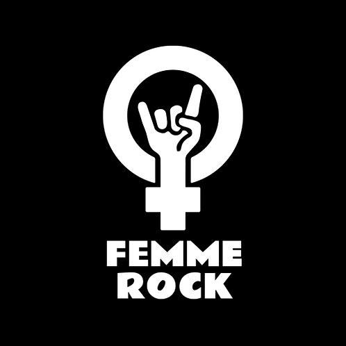 Femme Rock Logo Transfer Sticker