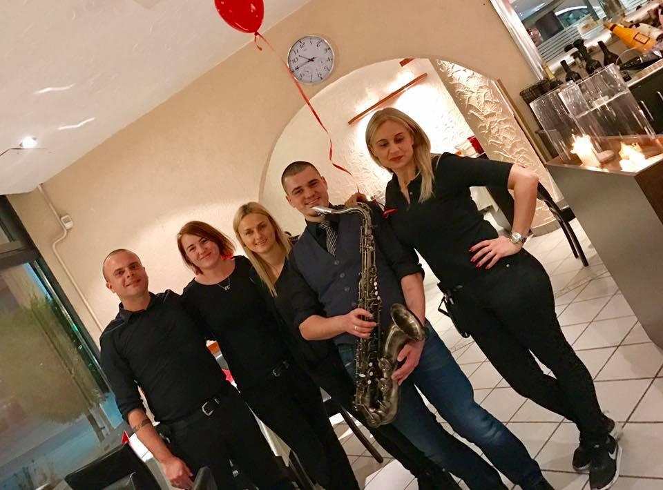 Saxophonist zum Dinner
