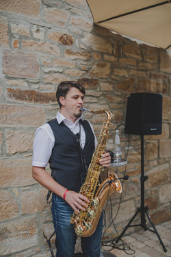 saxophonist vip event