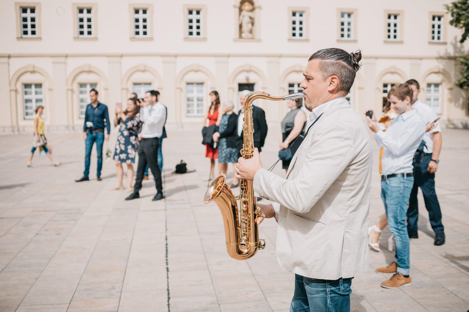 Saxophonist für Hochzeit