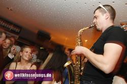 DJ mit Saxophonist