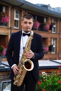 Saxophonist in Schweiz