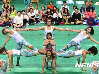 나디아요가워킹클래스 시연단의 공연