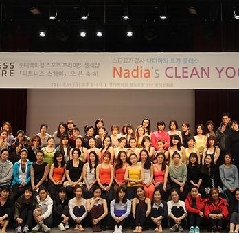 2014 나디아의 요가클래스 롯데백화점 피트니스스퀘어 오픈축하.JPG