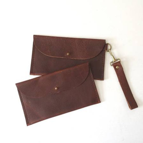 June Leather Wristlet