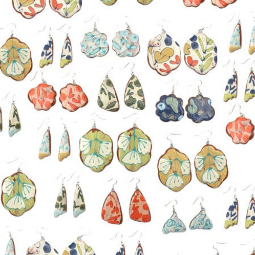ONLY ONE LEFT Ceramic Dangle Earrings