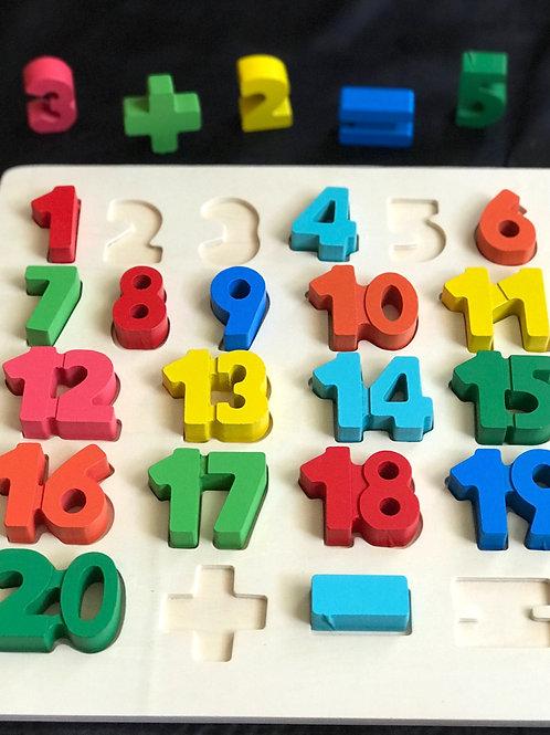 Puzzle in legno con numeri