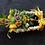 Thumbnail: Decorazione rettangolare con fiori lavorata a mano