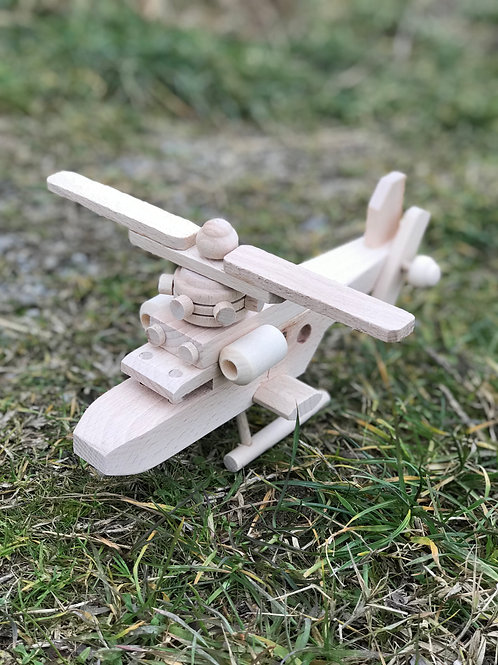 Elicottero in legno per bambini