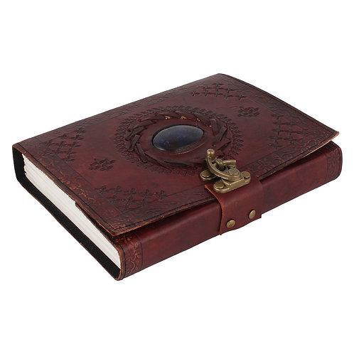 Quaderno appunti artigianale in Pelle, con Fogli Bianchi, 13x18 cm