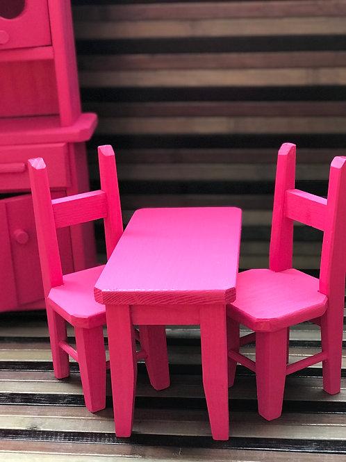 Cucina di legno colorata