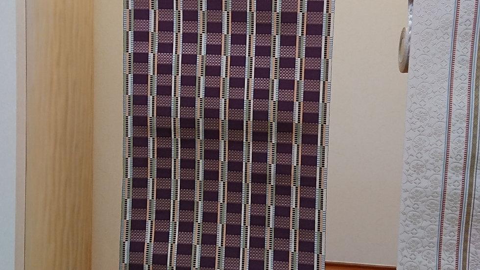 平八寸なごや帯 手織り 赤松潤一作 段織