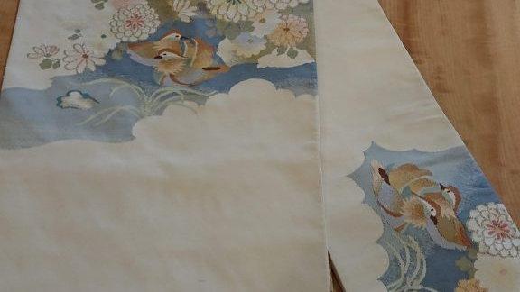 つづれ織り帯 鴛鴦模様
