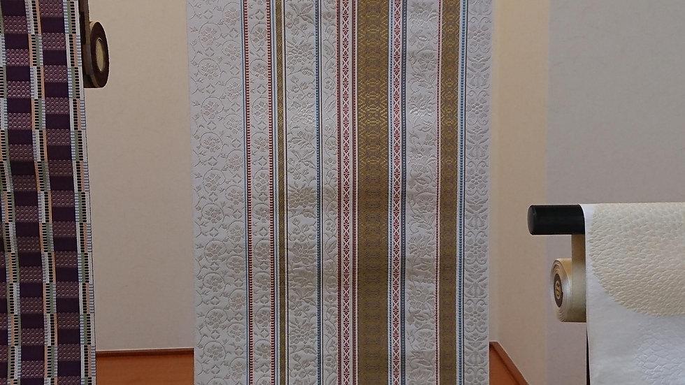 平八寸なごや帯 手織り 森本美生作 彩華献上
