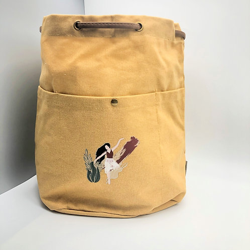 Field & Co. Cotton Canvas Convertible Tote/Backpack - Gold