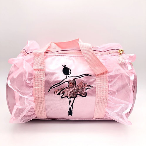 Pink Ballerina Satin and Lace Duffle