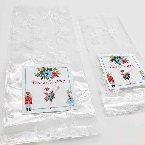 Nutcracker (Floral) Cast Gift Bags - set of 5