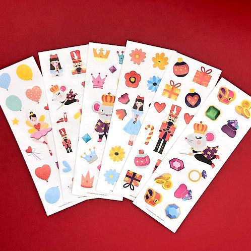 Nutcracker Sticker Sheet - INDIVIDUAL Sheets