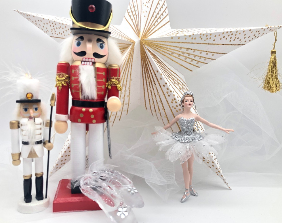 Gold Red White Nutcracker
