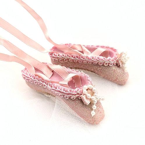 Ballet Shoes Ornament - Pink
