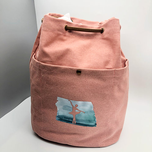 Field & Co. Cotton Canvas Convertible Tote/Backpack - Pink Ballerina