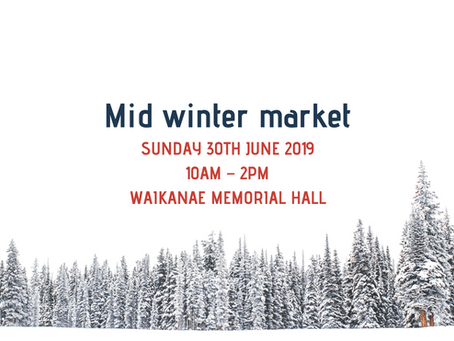 Mid-winter market date announced!