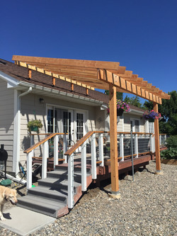 patio roof riser mfg home pergola
