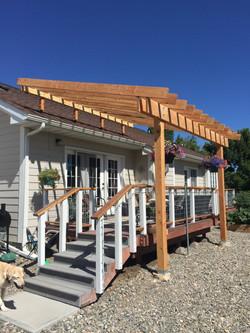 patio roof riser mfg home pergola