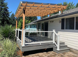 patio roof riser deck pergola