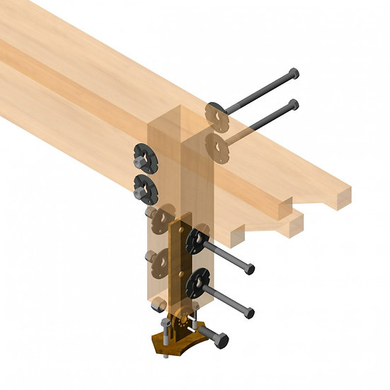 Patio Roof Riser W/Post and Beam Connection Kit