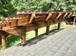 patio roof riser deck cover
