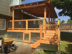 patio roof riser deck skirt