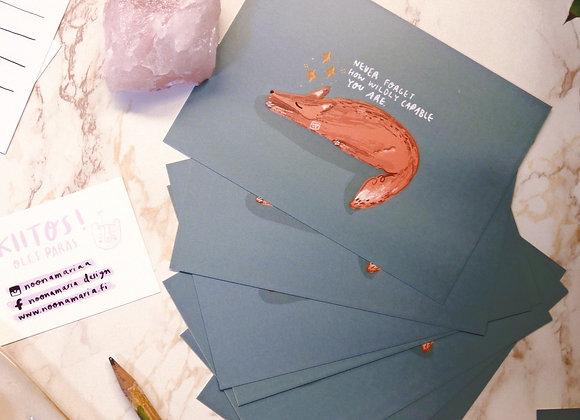 Sinä pystyt mihin vain - Postikortti