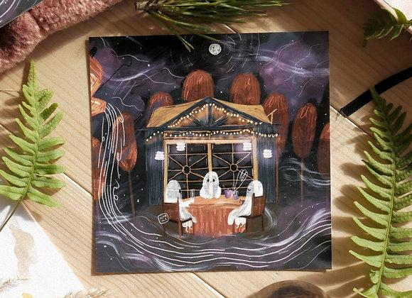 Kummitusten palaveri - Sisustuskortti