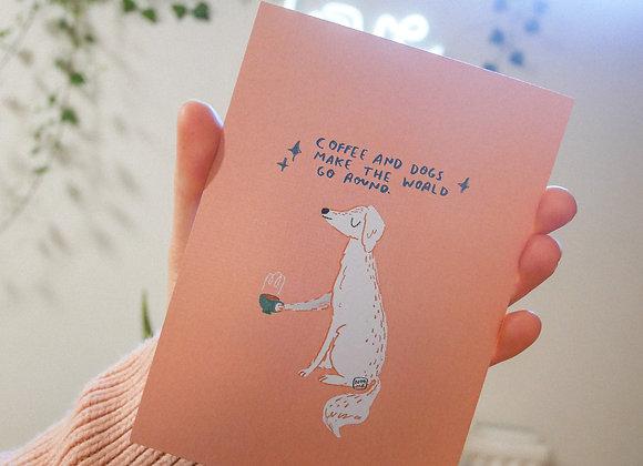 Ylistys koirille - Postikortti