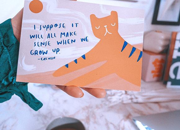 Pieni tiikerini - Postikortti