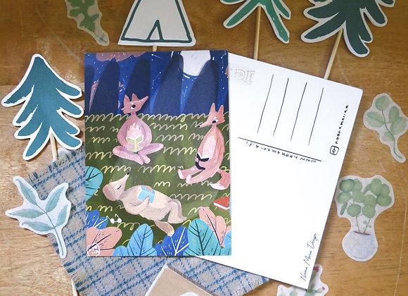 Lukuhetki kuunvalossa - Postikortti