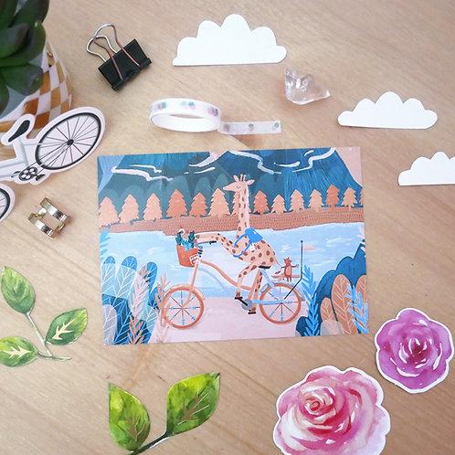 Matkalla luoksesi - Postikortti