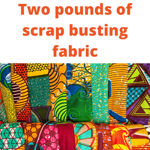 2 POUNDS SCRAP BUSTER FABRIC