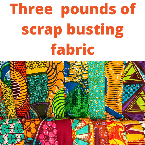 3 POUNDS SCRAP BUSTER FABRIC