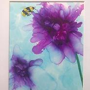 Bee on Pink Flowers - SOLD.jpg